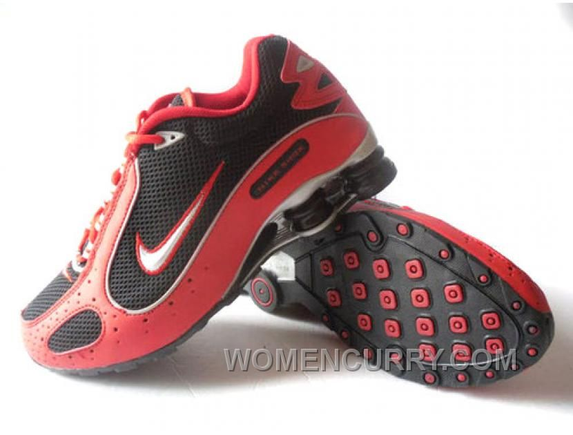 Discount Authentic Mens Nike Shox Monster Shoes Red/Black/Silver