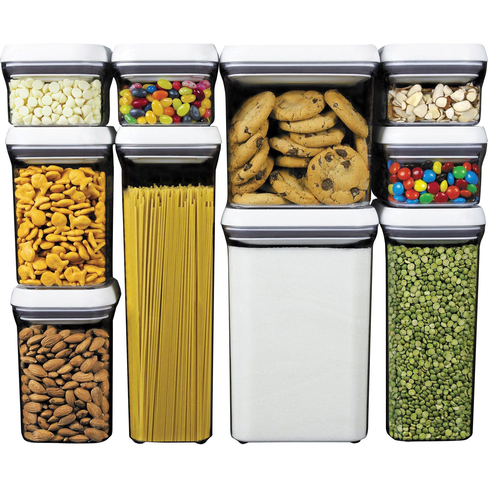 Food Storage Containers 20655: Oxo Good Grips 10 Piece Pop Container Set,  White