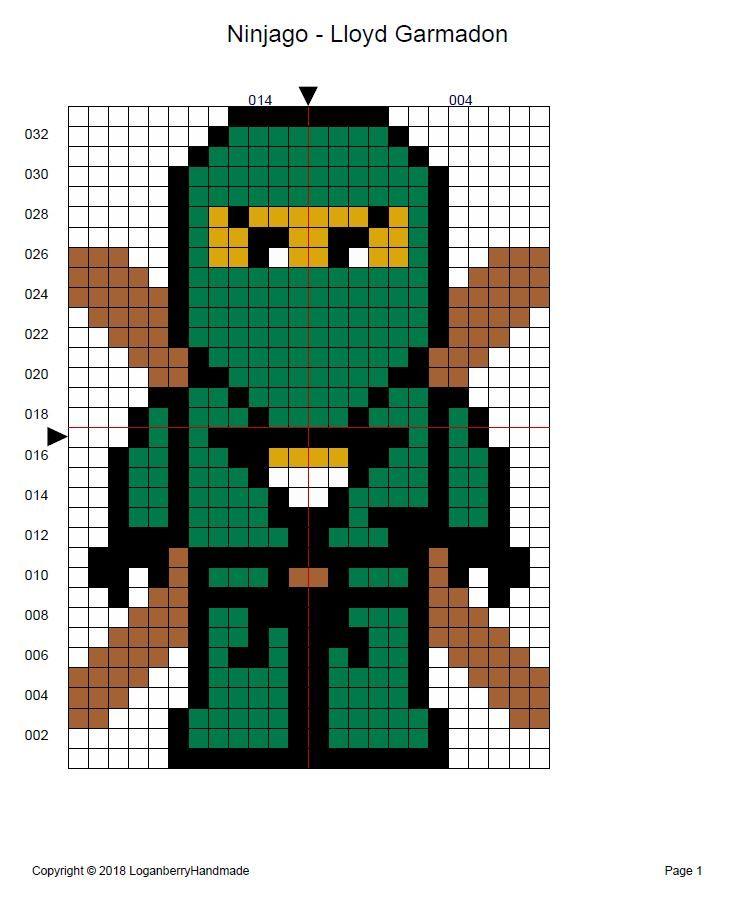 Photo of Ninjago Cross Stitch Pattern + Free, Lloyd Garmadon Ninja, Green Ninja, lego mov…