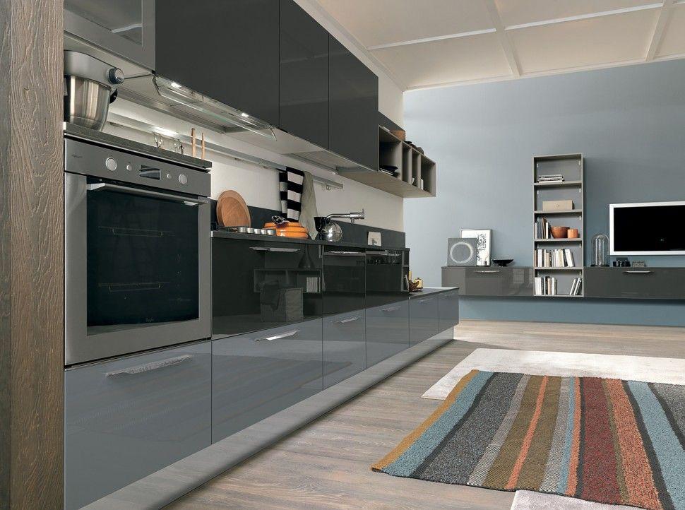 Colombini Lungomare Konyhabútor Modern Kitchen Furniture Nature And Blue    Konyhabútor   Kitchen Furniture   Pinterest   Modern Kitchen Furniture, ...