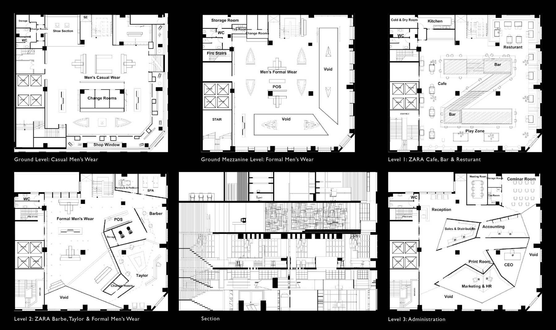 Zara Concept Retail Store Plans And Elevation Sanova