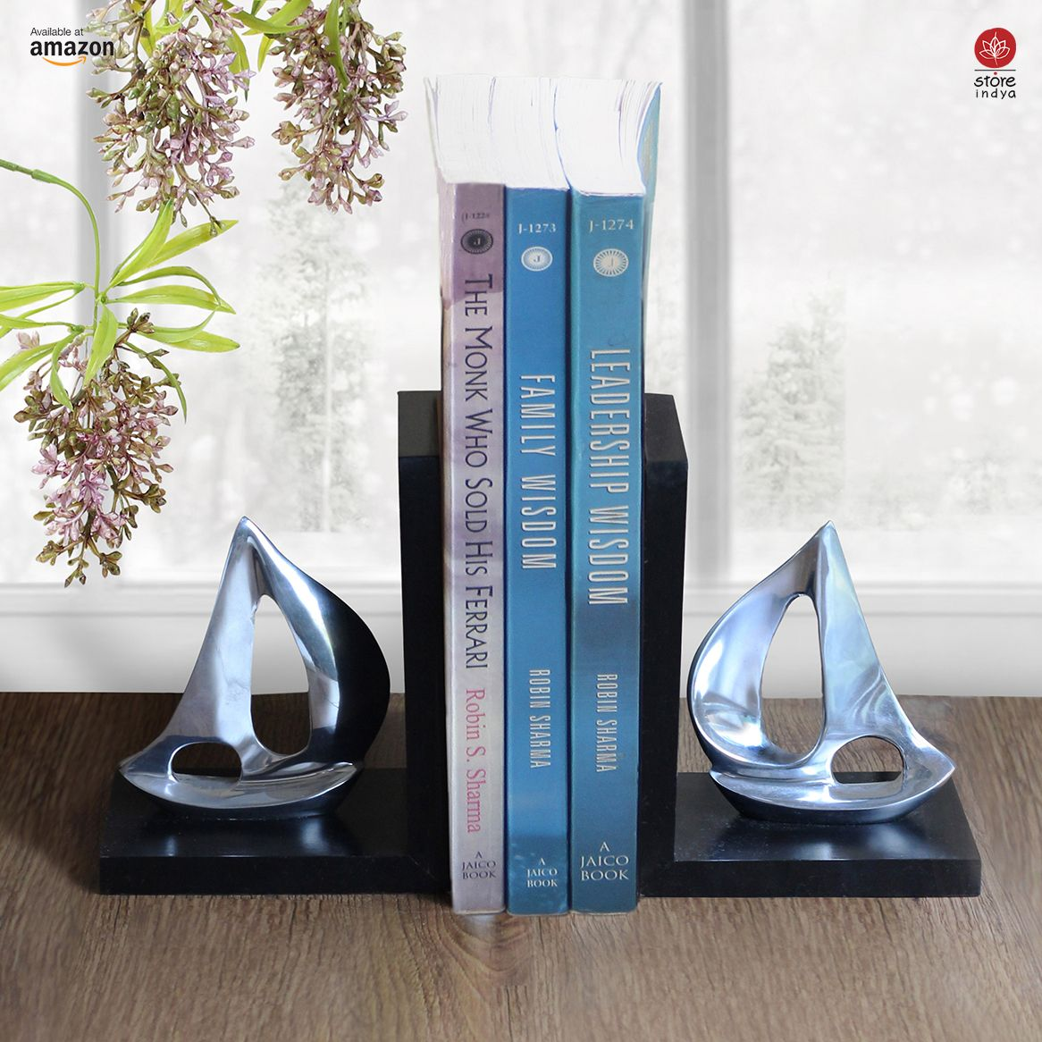 amazoncom  store indya  modern book ends display rack stand  - amazoncom  store indya  modern book ends display rack stand holderbookshelf organizer