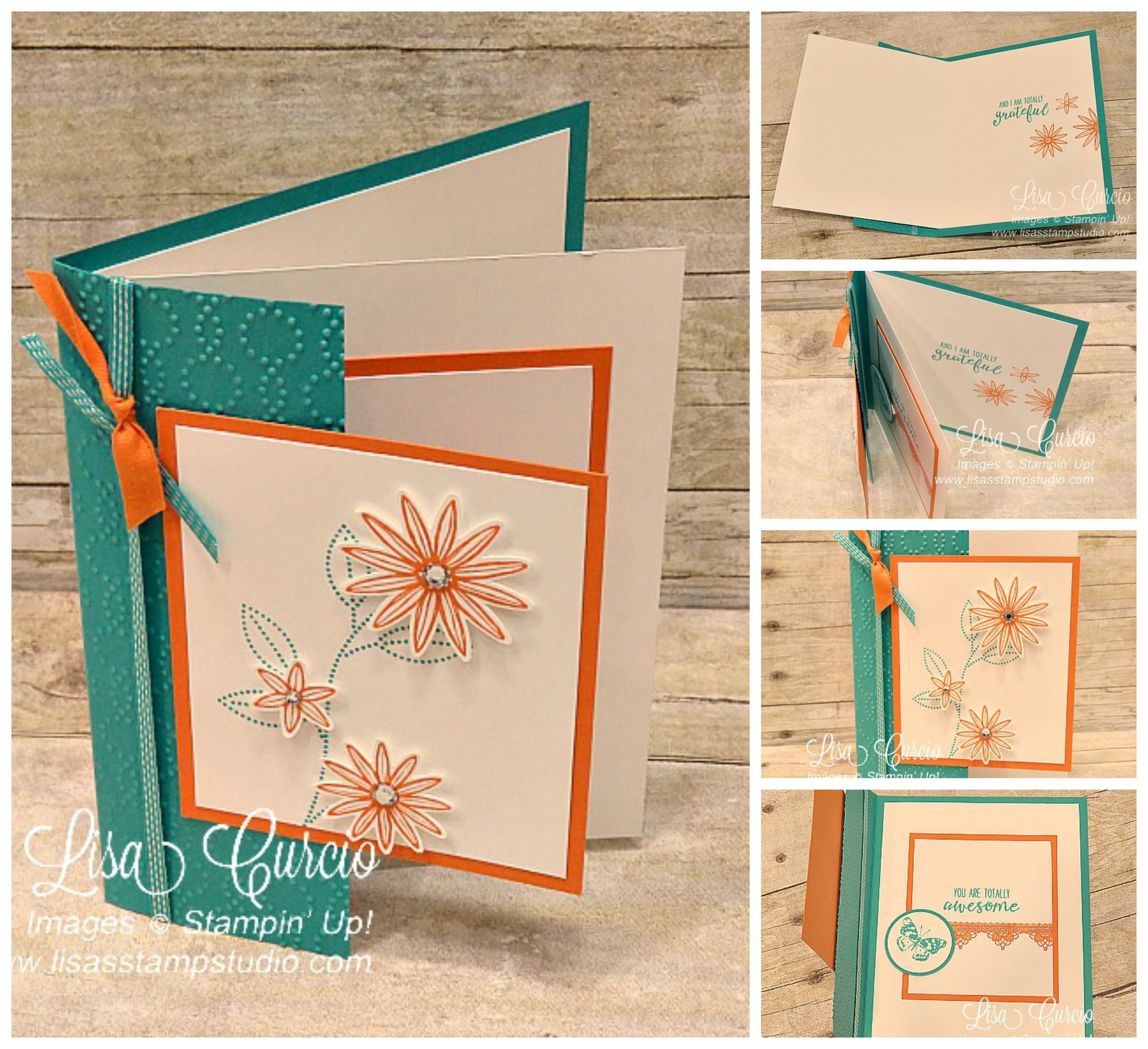 Grateful Bunch Double Front Fold Card