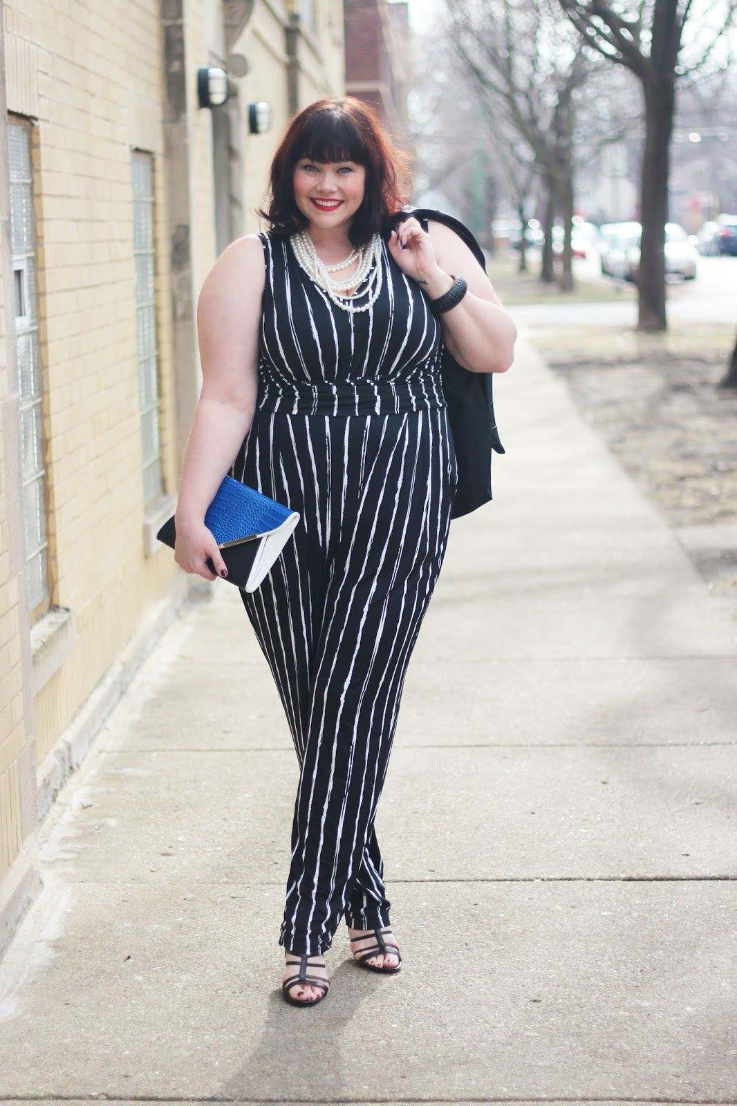 7ea855ba71ce Plus Size Blogger Amber from Style Plus Curves in a Jumpsuit and Blazer  from Fashion to Figure