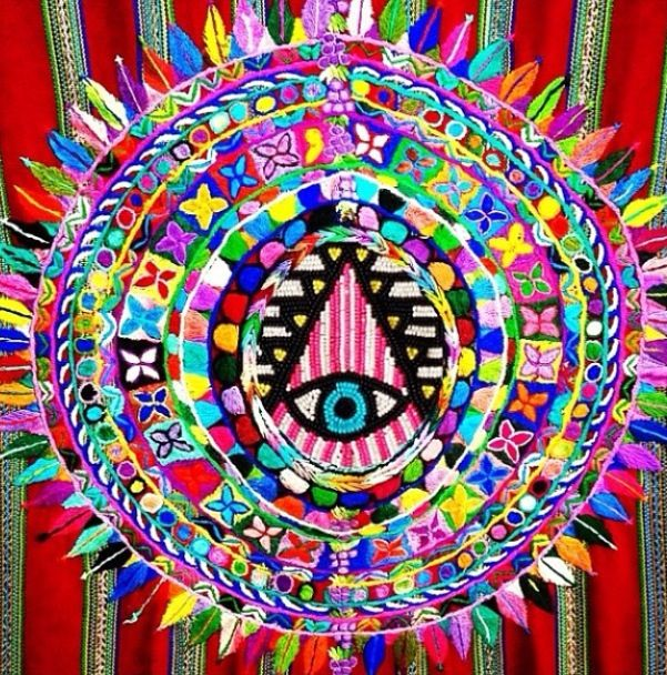 American Hippie Psychedelic Art ~ All Seeing Eye .. Sacred ...