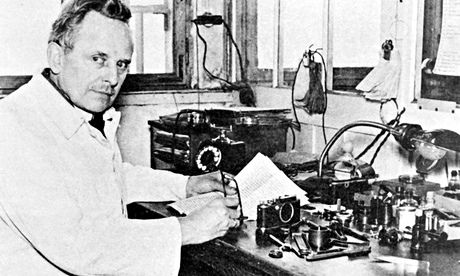 Oskar Barnack, inventor of the Leica camera, 100 years ago.
