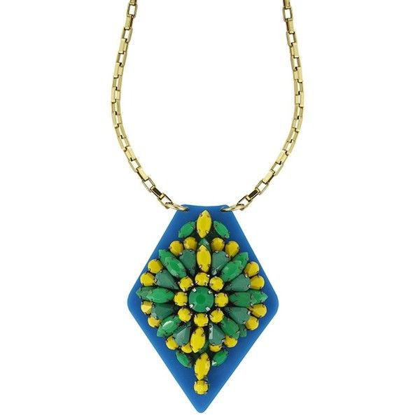 Forest Of Chintz Crystal Stratum Green & Yellow Pendent