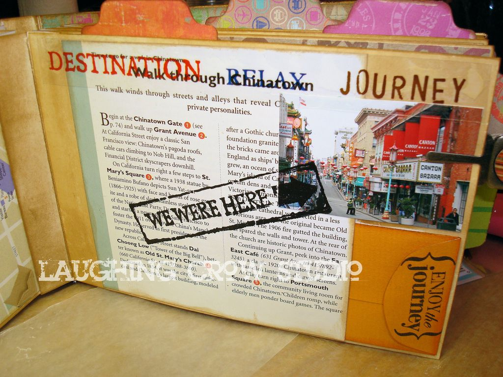 Scrapbook ideas for elderly - A Travel Journal For San Franscico Made With Travel Guide Pages Scrapbook Paper And Travel Photos Lots Of Great Ideas For Adding Details