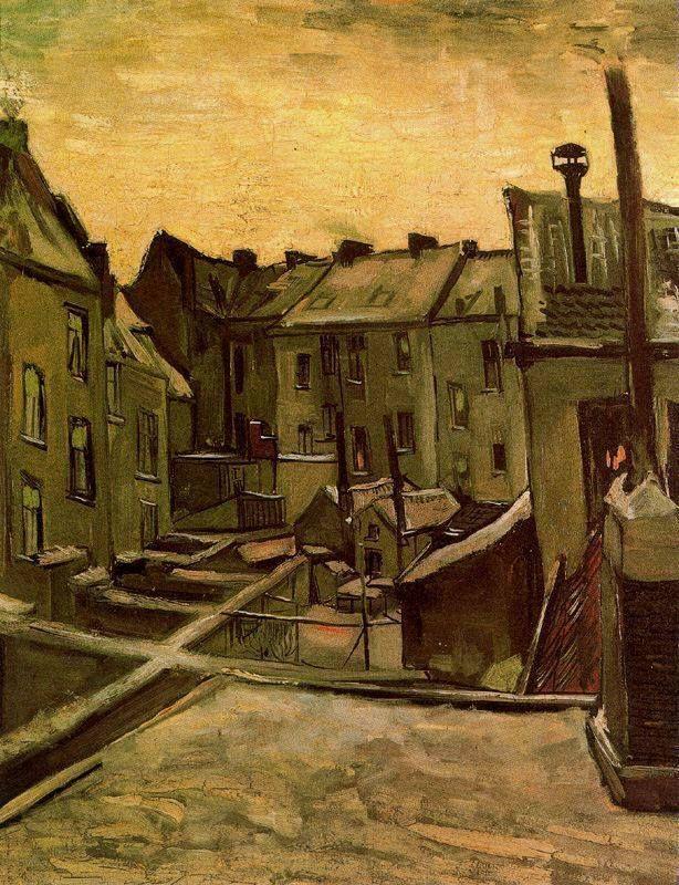 Vincent van Gogh, Patios traseros de Amberes con nieve, 1885 Art