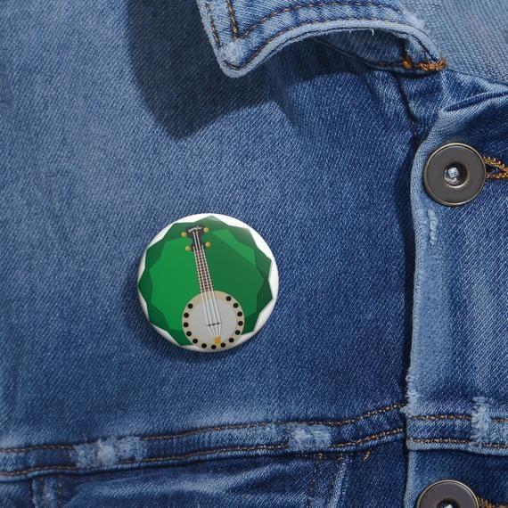 Banjo  Pin, Banjo Button, Button Set, Lapel Pin, Hat Pin, Enamel Pins, Lapel Pins, Funny Pin