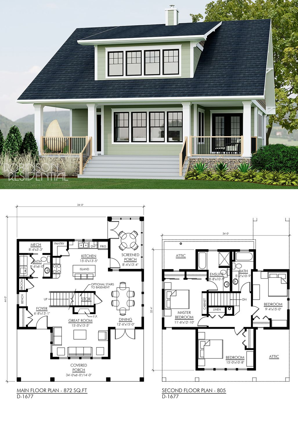 Craftsman D 1677 Robinson Plans Craftsman House Plans Sims House Plans Porch House Plans