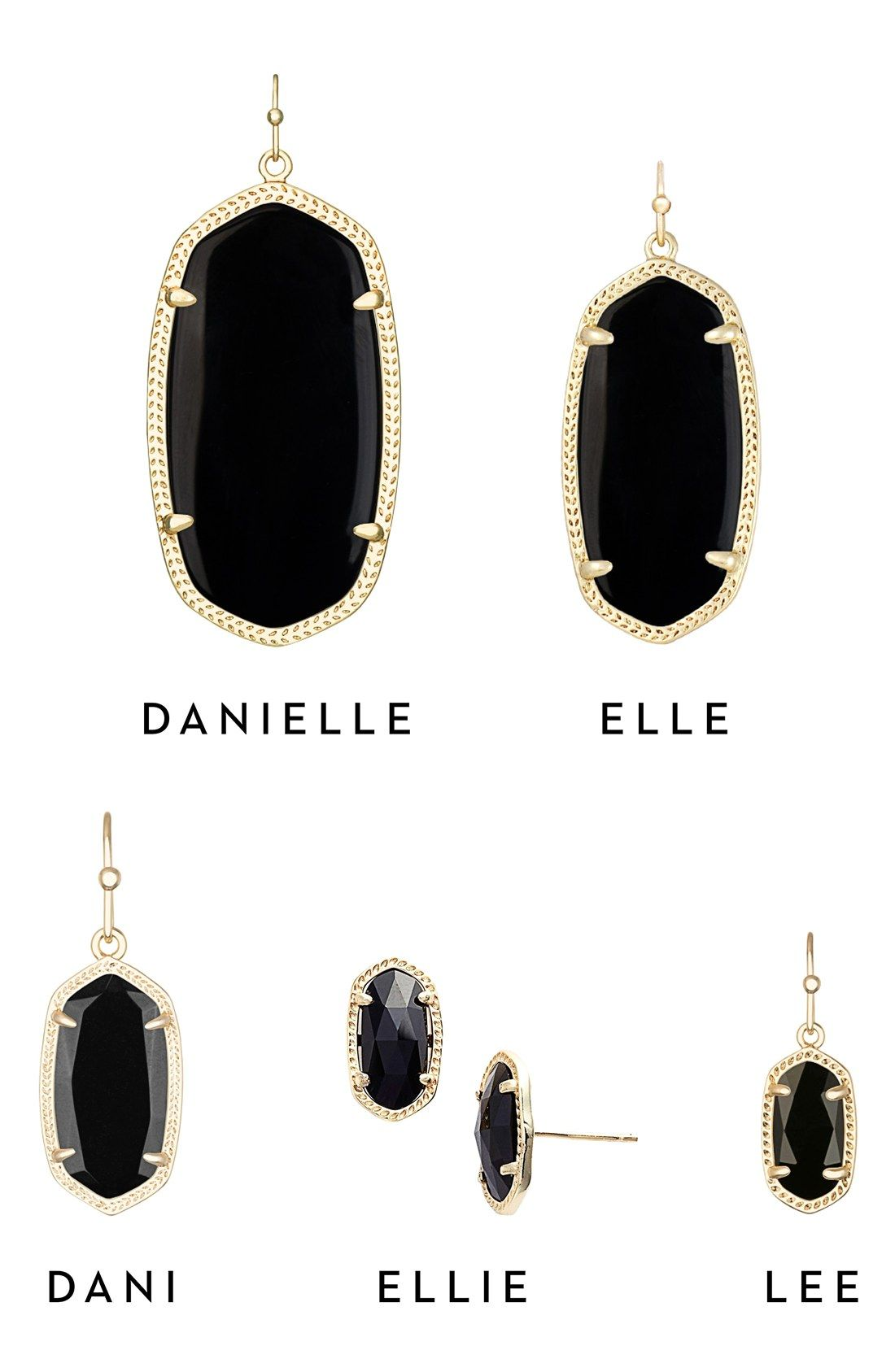 8e253e8c2 Kendra Scott earring sizes (Danielle, Ellie, Dani, Ellie, Lee ...