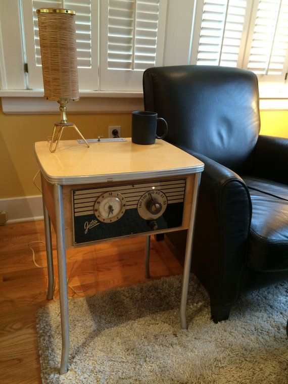 Lovely 1940s Jetco Motel CoinOp Clock Radio By Deco2Go On Etsy, $300.00
