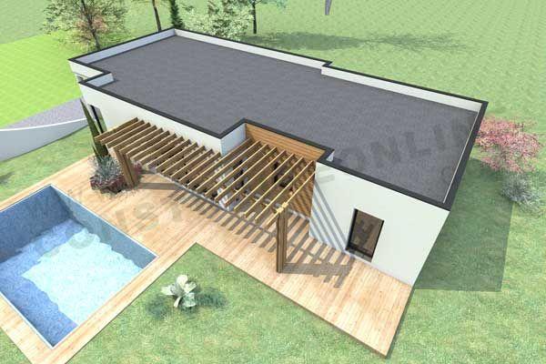 Toit plat recherche google other pinterest toit for Modele maison contemporaine toit plat