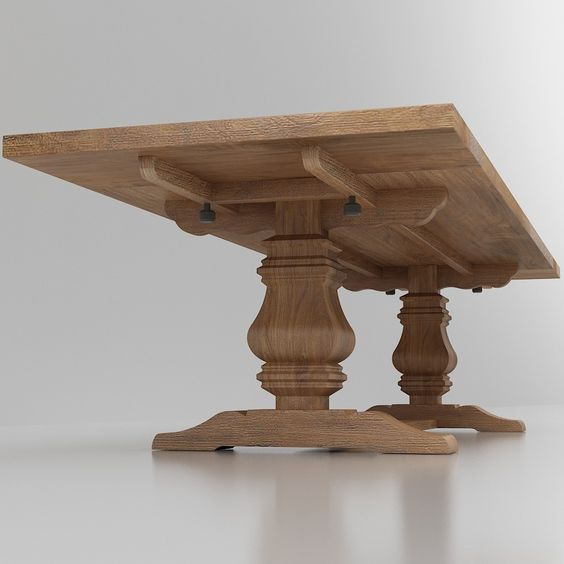 Extension Dining Room Tables: Salvaged Wood Trestle Extension Dining Table In 2019