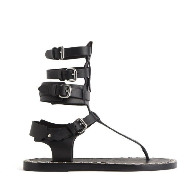 050806343710 ISABEL MARANT  jeepy  Sandals ( 715) ❤ liked on Polyvore featuring shoes