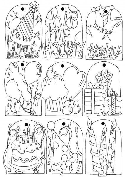 Printable} Birthday tags | Etiquetas, Imprimibles y Eres maravilloso