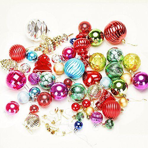 WDDH Large Christmas Balls Bulk Decor Electroplating Ball for Christmas Tree Outdoor Christmas ...