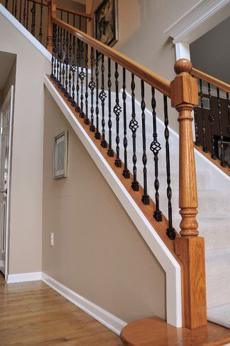 Best Iron Baluster Easy Update To The White We Currently Have Staircase Remodel Indoor Railing 400 x 300