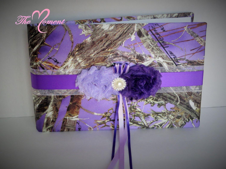Purple Camo Guest Book With Lavender Accents Purple Camo Camo