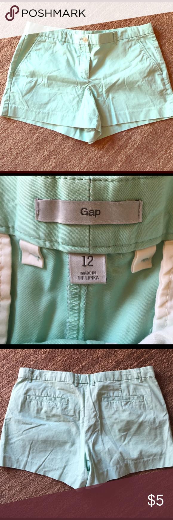 Mint green Gap shorts! Fantastic shape. Worn once or twice. Light mint colored GAP Shorts Jean Shorts