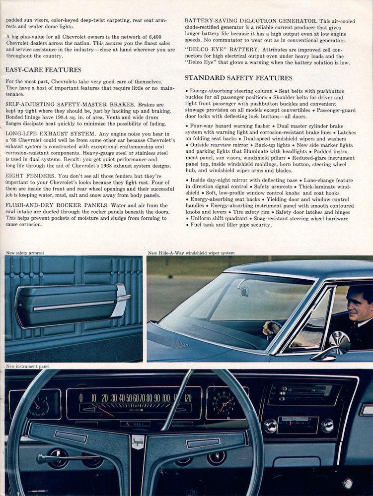 Gm 1968 Chevrolet Sales Brochure Chevrolet