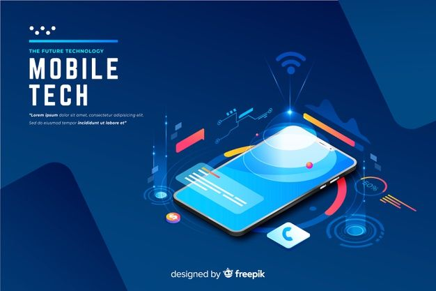 Download Gradient Smartphone Isometric Technology