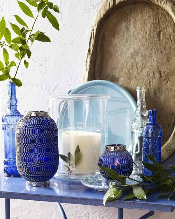 pin von anke metzger auf decoration pinterest blau blaue vasen und mediterran. Black Bedroom Furniture Sets. Home Design Ideas