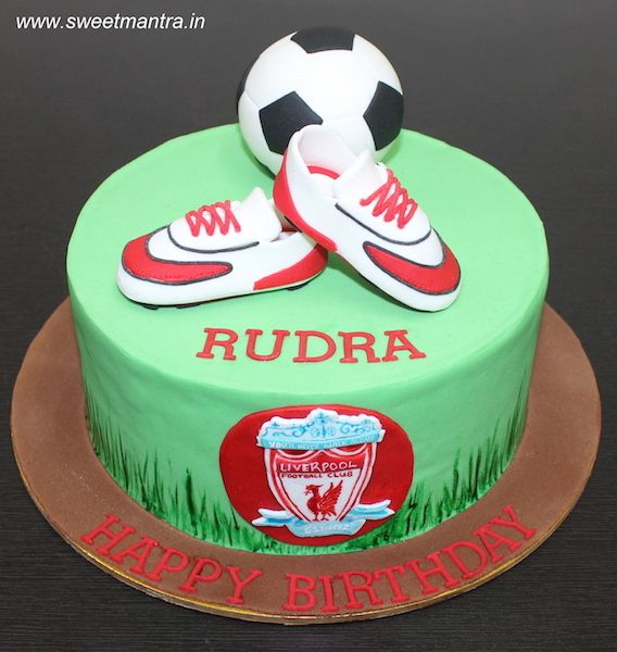 Liverpool Football Theme Customized Designer Fondant Cake