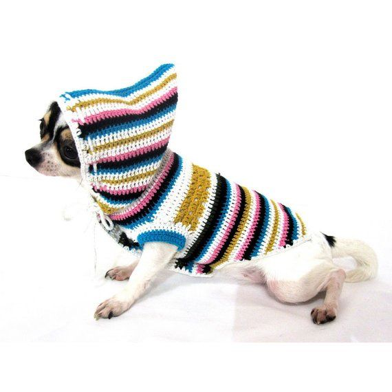 Bohemian Dog Hoodie Cute Dog Pajamas Cotton Chihuahua Clothes