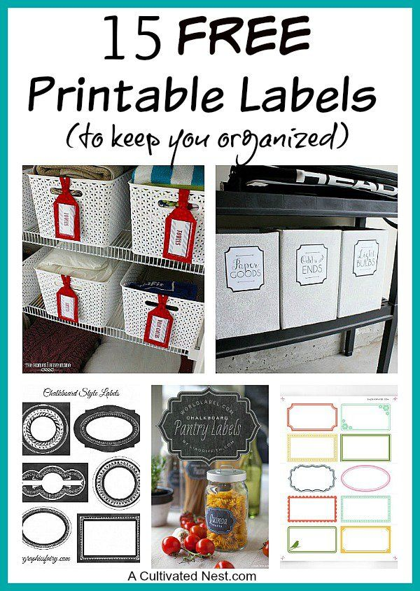 15 Free Printable Labels For Organizing A Cultivated Nest Labels Printables Free Printable Labels Organization Printables