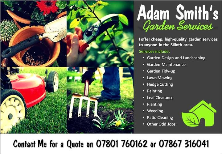 Adam Smith Garden Services Graphic Design Flyer Poster