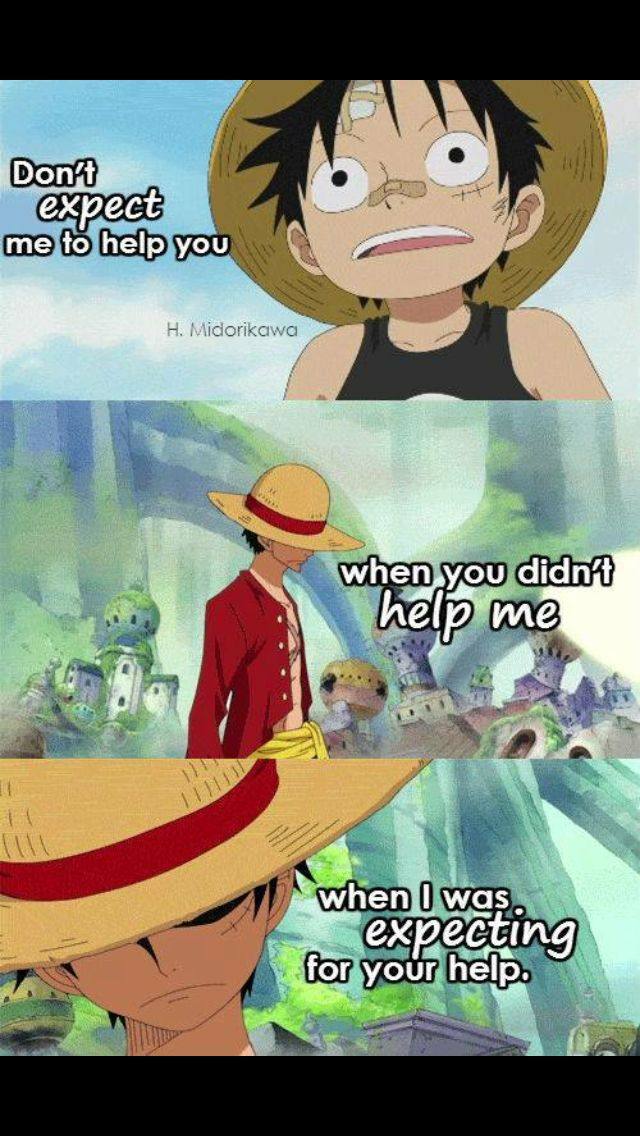 Pin by Mia on anime | One piece quotes, Anime quotes, Anime qoutes