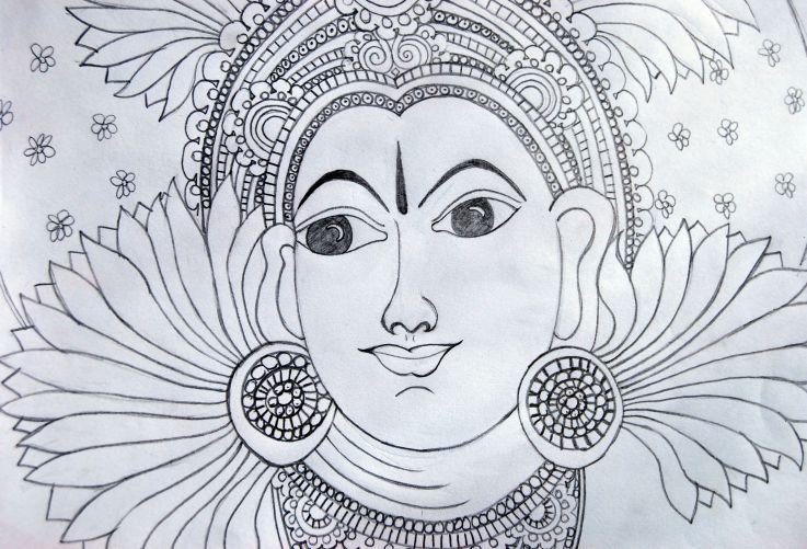 kerala mural basics pencil - Google Search | Kerala mural ...