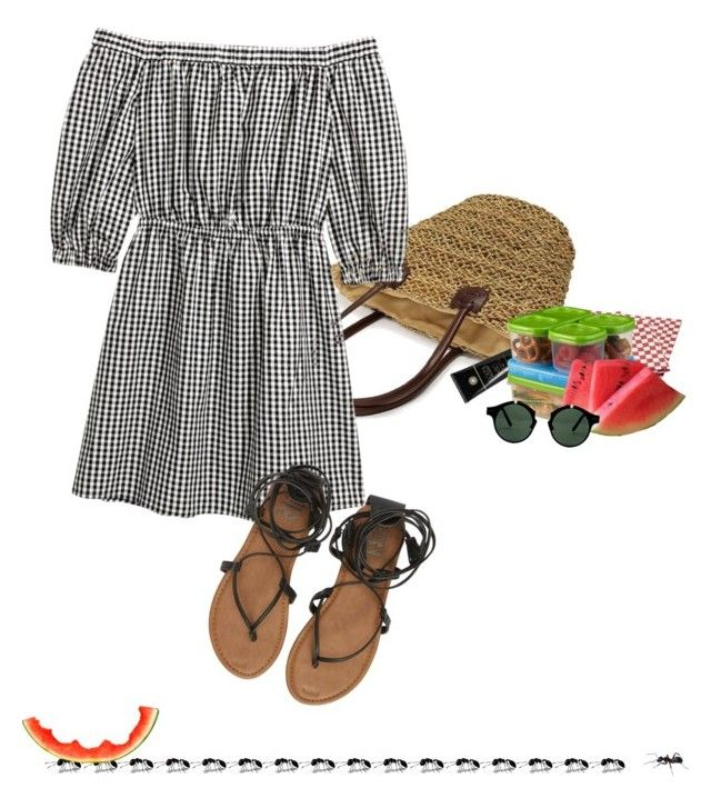 """""""Spring Trend: Off-Shoulder Dresses"""" by sharmarie ❤ liked on Polyvore featuring Soleil Toujours, Billabong, Sur La Table, Rubbermaid and Spitfire"""