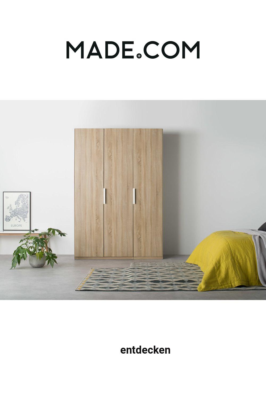 Made Kleiderschrank Helles Holz In 2020 Home Decor Furniture