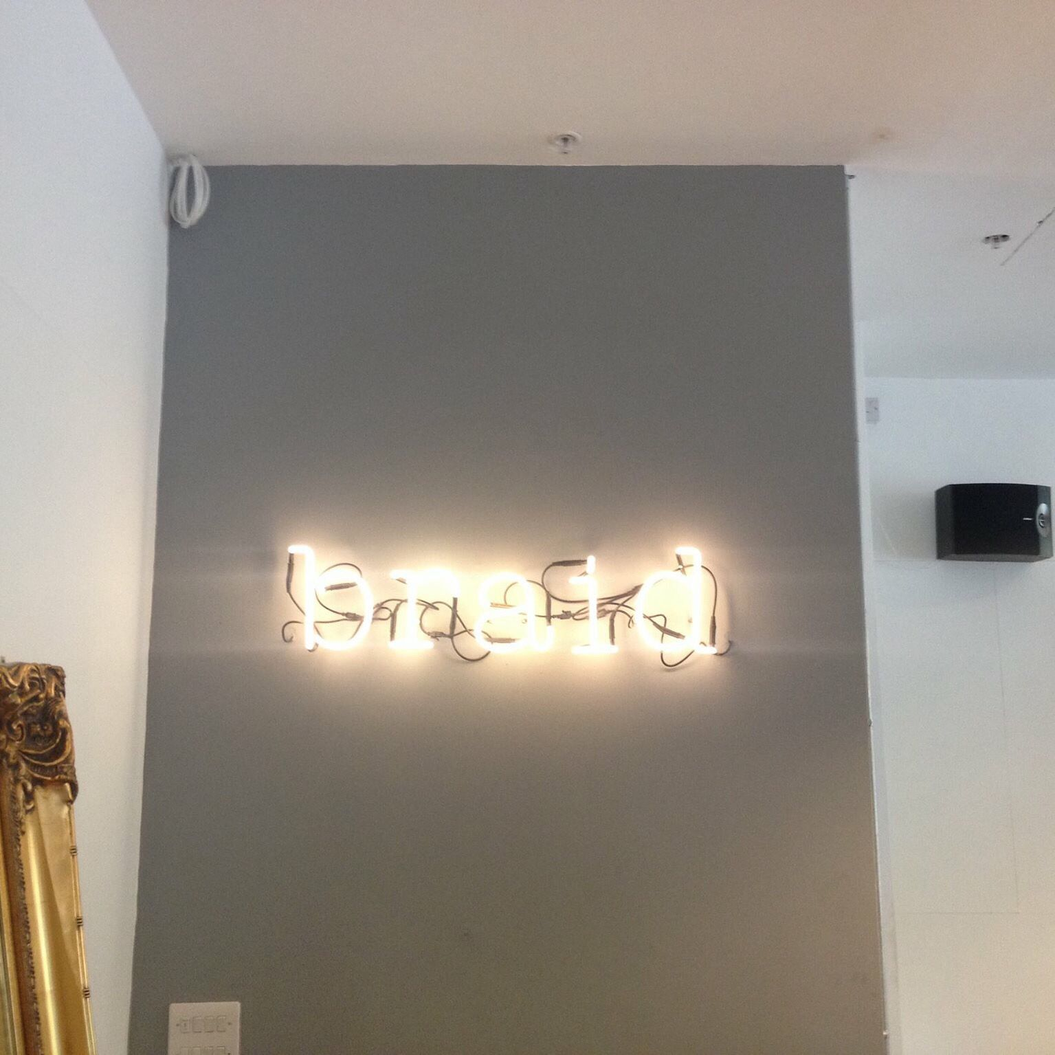 Braid Barbers have used our NEON font by Seletti to spell it out for you at their new Milton Keynes store! #letterlights  #lightdesign #neonlights