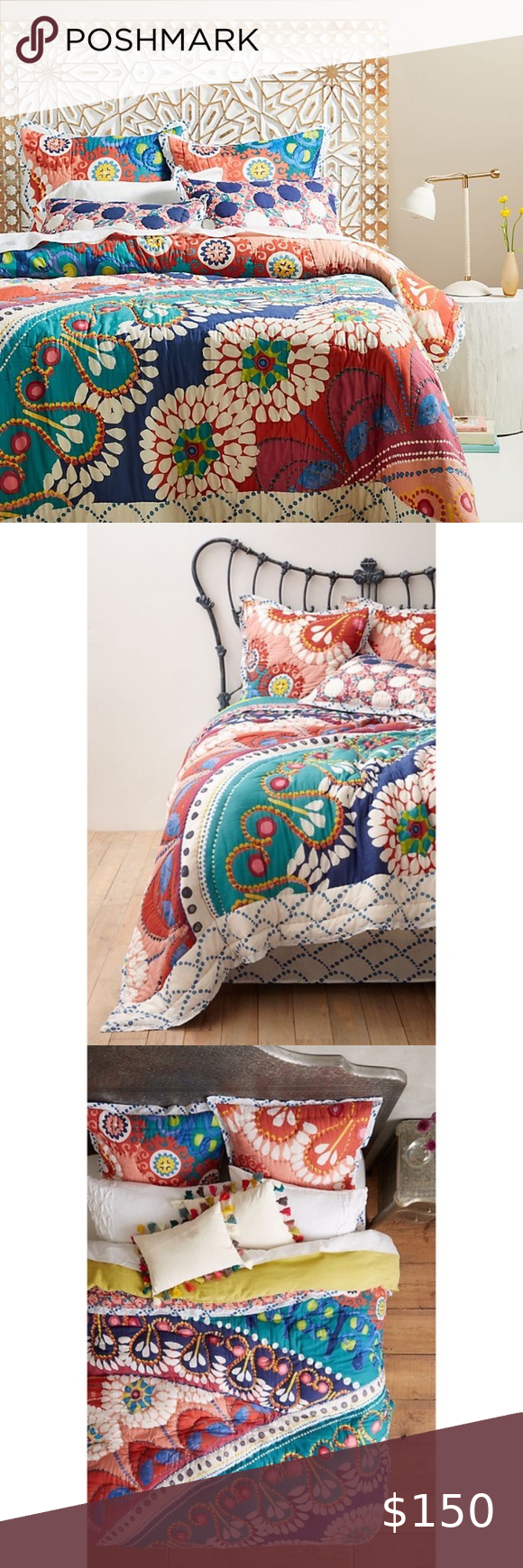 Anthropologie Tahla Twin Colorful Quilt Bedding In 2020 Colorful Quilt Bedding Quilt Bedding Colorful Quilts