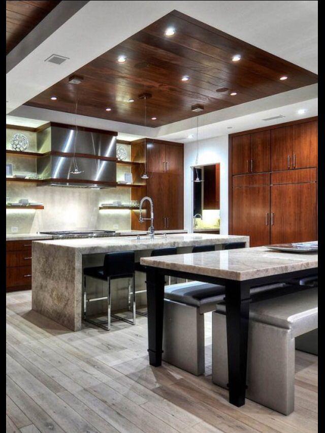 Pin de jude jude en beautiful homes and more pinterest for Plafones de cocina