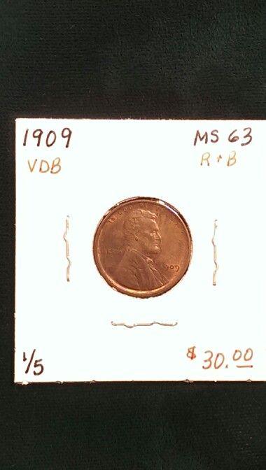 1909 VDB Lincoln Cent MS63 R&B