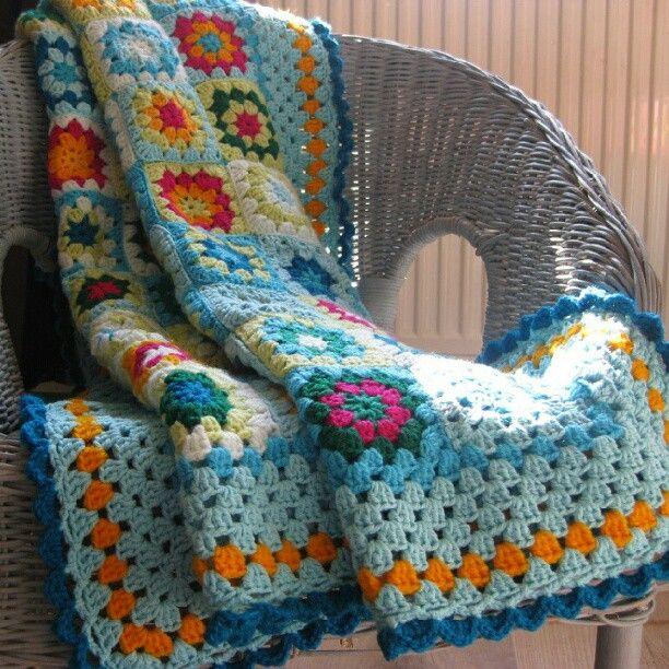 #crochet #craft #grannysquares #blanket #handmade #instagramers