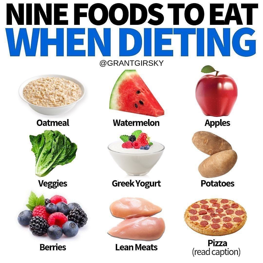 foods too eat while on diet