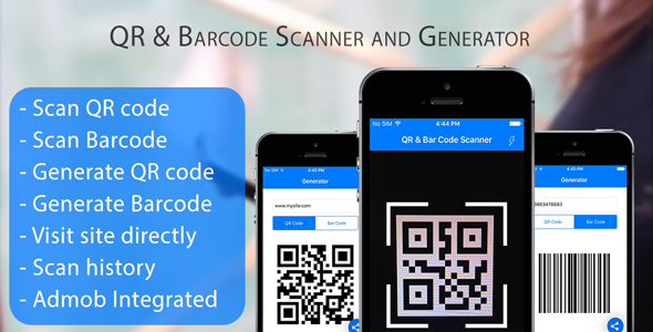 QR Code & Barcode Scanner and Generator for iOS Swift with
