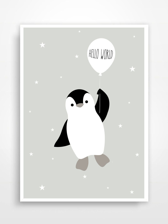 Affiche déco pour chambre d\'enfant * Pingouin. | baby <3 ...