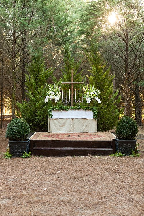 This Couple Transformed A Grove Of Cedar Trees Into Breathtaking Wedding Venue