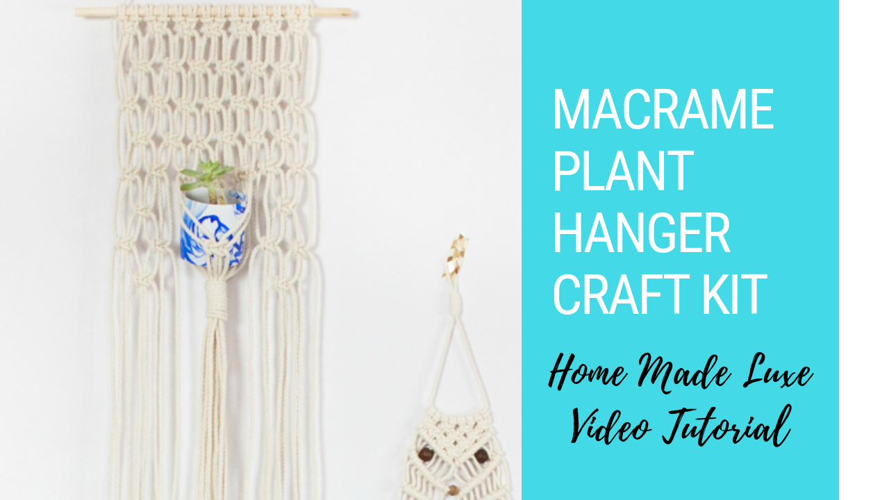 Photo of Macrame Project Kit: Macrame Succulent Hanger and a Macrame Owl