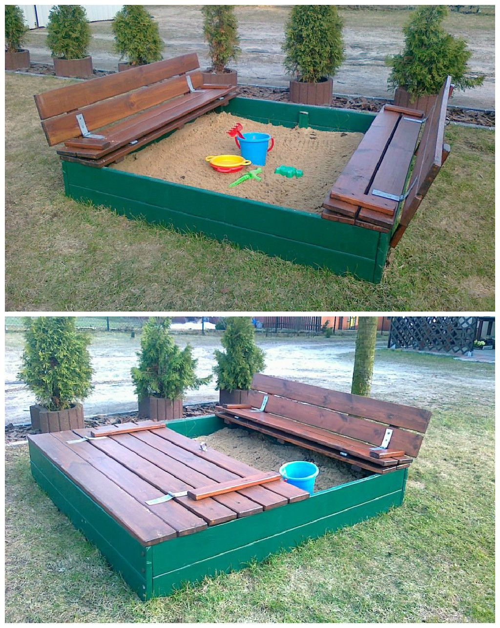 1001 pallets pallet kids playground here is a home made playground - Sandpits Made Out Of Recycled Pallets Pallet Ideas 1001 Pallets