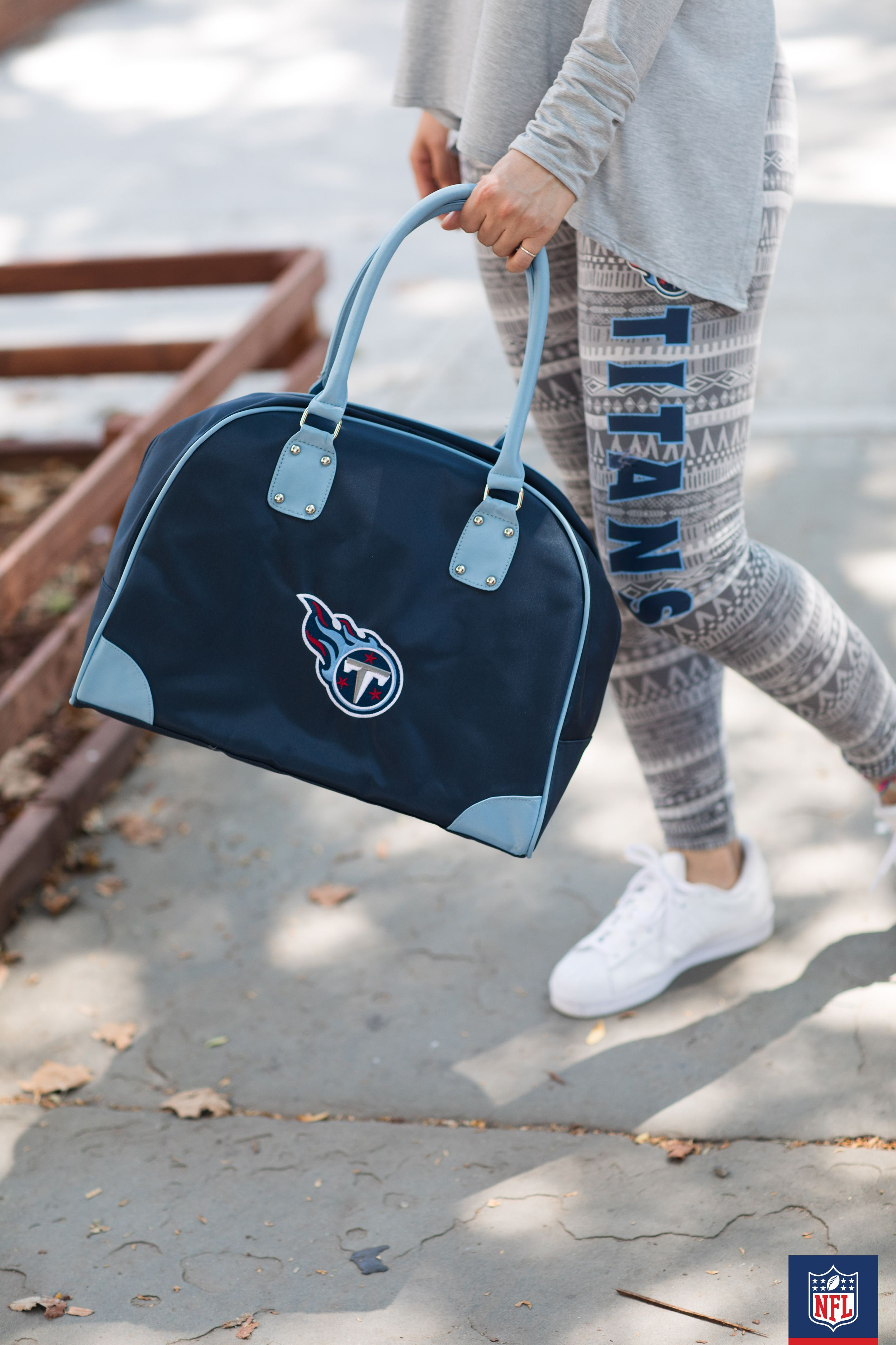 Take your style on the road with a Tennessee Titans overnight bag  free shipping
