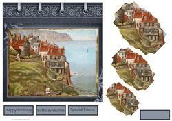 Robin Hood Bay Card With Pyramid Layers