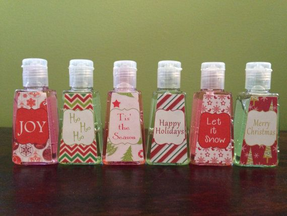 Christmas Hand Sanitizer Favors Personalized By Createdtoparty